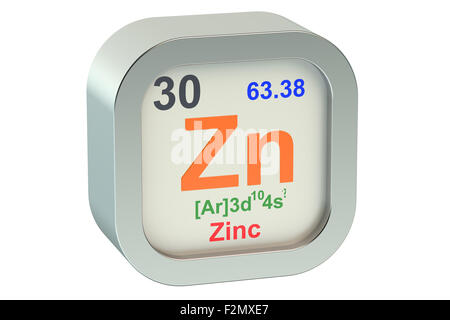 Symbol For The Chemical Element Zinc Stock Photo 59914333 Alamy