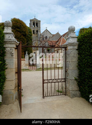 The Abbey of Vezelay and the Basilica of St Magdelene - Stock Photo