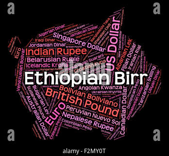 Ethiopian Birr Meaning Forex Trading And Etb - Stock Photo