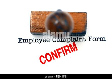 Employee Complaint Form - Confirm Stock Photo, Royalty Free Image