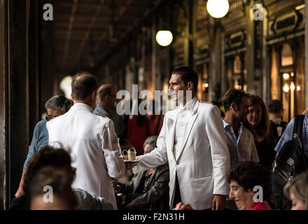 Florian Cafe, St. Marks Square, San Marco, Venice, Italy, Europe - Stock Photo