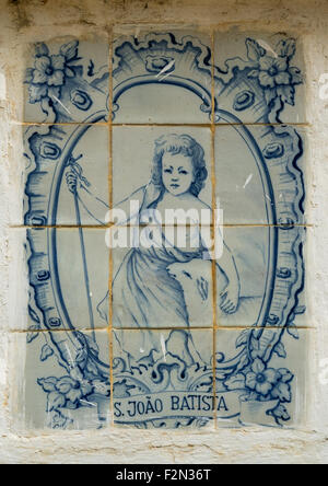 Benin, West Africa, Ouidah, tiles in the in the old portuguese fort of st. john the baptist - Stock Photo