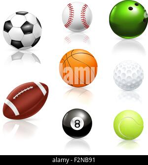 Balls, vector icons - Stock Photo