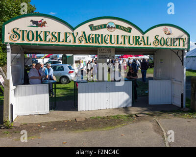 Main entrance to the Stokesley Agricultural Society annual show 2015 - Stock Photo