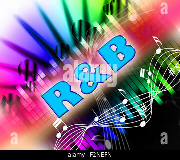Rhythm And Blues Representing Sound Tracks And Melody - Stock Photo