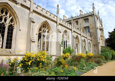 A section of St John's College in Cambridge, England - Stock Photo