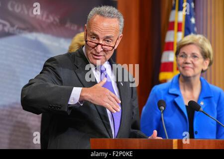 U.S. Senator Chuck Schumer joins other democrats during a press conference calling for Republicans to support tax - Stock Photo