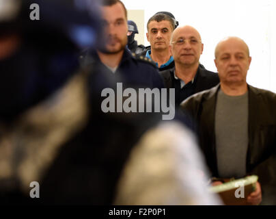 Prague Municipal Court deal with proposal to release for extradition of Lebanese Ali Fayad (third from right), Faouzi - Stock Photo