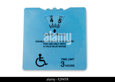 UK disabled person's parking disc - Stock Photo