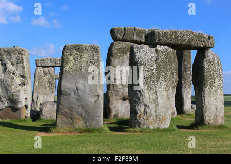 Stonehenge under a blue sky - Stock Photo