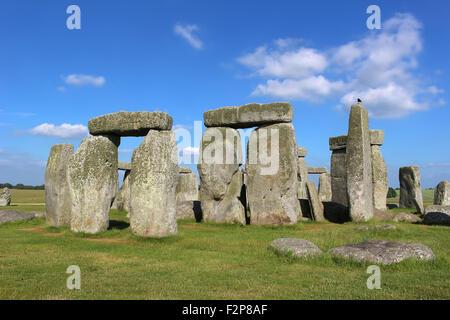 Stonehenge under a blue sky - Stock Photo
