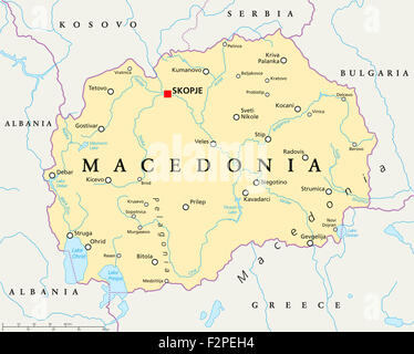 Macedonia political map with capital skopje and neighbor countries skopje macedonia map macedonia political map with capital skopje national borders important cities rivers and lakes publicscrutiny Image collections