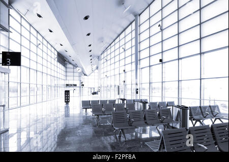 Waiting Area In Departure Hall Manchester Airport