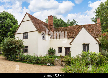 Willy Lott's Cottage at Flatford Mill, featured in Constable's painting 'The Hay Wain', East Bergholt, Dedham Vale, - Stock Photo
