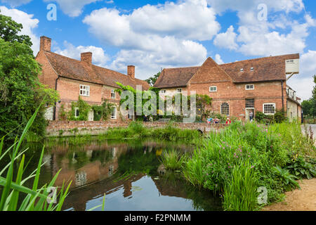 Flatford Mill, location for some of Constable's paintings including the Hay Wain, East Bergholt, Dedham Vale, Essex, - Stock Photo