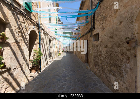 Taken in the beautiful village of Valldemossa on the island of Majorca, Spain in July 2015 - Stock Photo