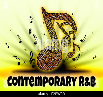 Contemporary R&B Showing Rhythm And Blues And Present Day - Stock Photo