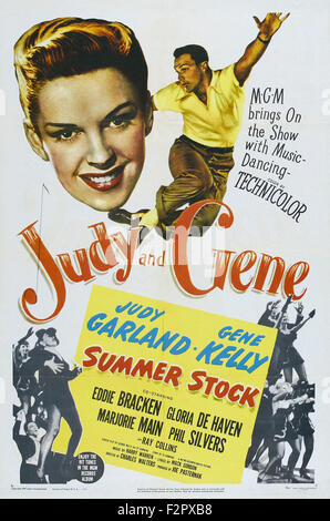 Summer Stock - Movie Poster - Stock Photo