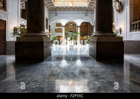 Palermo (Italy) - Palazzo Pretorio, or Palazzo delle Aquile - Stock Photo