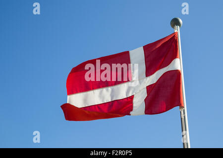 Photograph of the Danish Flag called Dannebrog. - Stock Photo