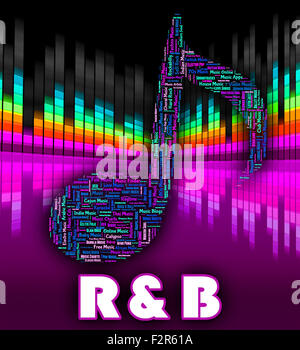 Rhythm And Blues Meaning Hip Hop And Harmonies - Stock Photo