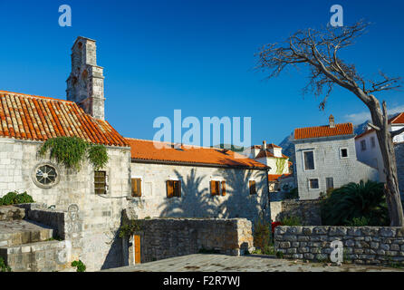 Streets Old town. Budva, Montenegro, Balkans - Stock Photo