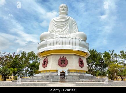Big Buddha statue at the Long Son pagoda in Nha Trang Vietnam - Stock Photo