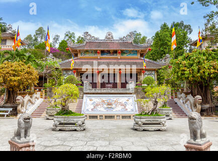 Long Son pagoda in Nha Trang, Vietnam - Stock Photo