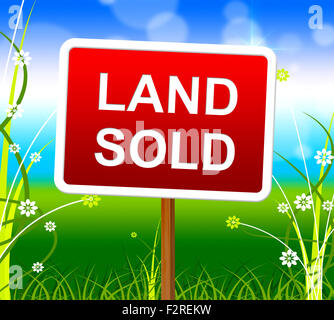 Land Sold Indicating Real Estate Agent And Successful Offer - Stock Photo