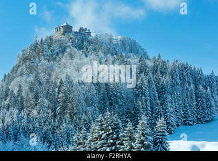 Ehrenberg Castle winter view (Austria, Reutte, Bavaria). Built in the 13th century. - Stock Photo