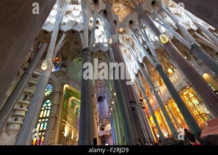 sagrada familia in barcelona spain - Stock Photo