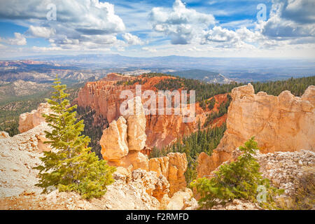 Rock formations in Bryce Canyon National Park, Utah, USA. - Stock Photo