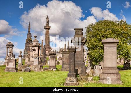 Glasgow Necropolis, Glasgow, Scotland, UK. - Stock Photo