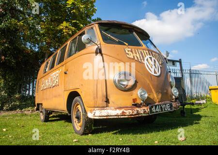VW Camper Vintage Car   Stock Photo