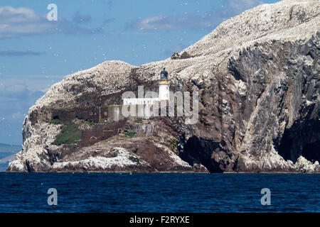 Bass Rock, Firth of Forth, Scotland, United Kingdom - Stock Photo