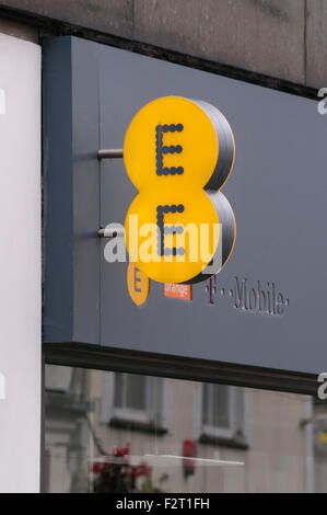 EE Mobile network operator and Internet Service Provider Sign - Stock Photo