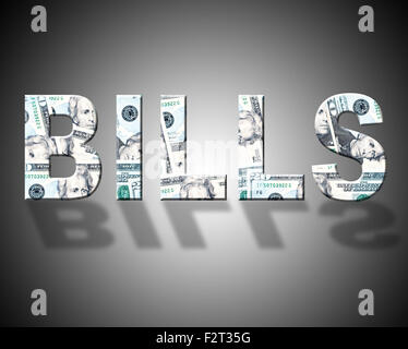 Bills Dollars Showing United States And Finances - Stock Photo
