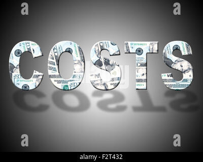Costs Dollars Showing United States And Outlay - Stock Photo