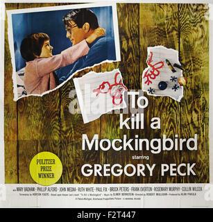 To Kill a Mockingbird - Movie Poster - Stock Photo