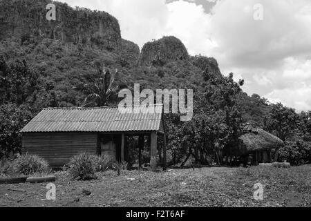 House on Tobacco Farm, Vinales, Cuba - Stock Photo