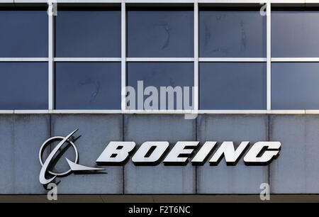 Sign at Boeing headquarters in Chicago, IL, USA. - Stock Photo