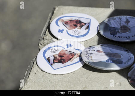 Washington, DC, USA. 23rd Sep, 2015. Souviner sold to commemorate the visit of Pope Francis in Washington, DC, Sept. - Stock Photo