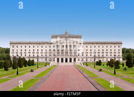 Northern Ireland Assembly and Government building in Stormont Estate in Belfast - Stock Photo