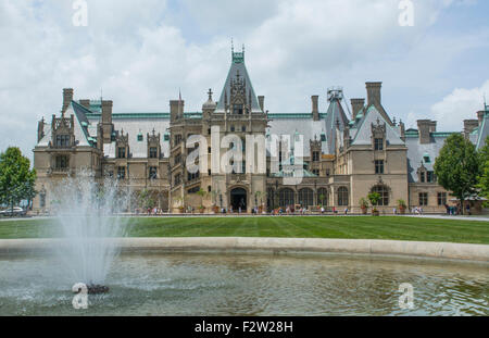 Asheville North Carolina historic Biltmore Estate home of Vanderbilt in 1895 largest private home in the USA - Stock Photo