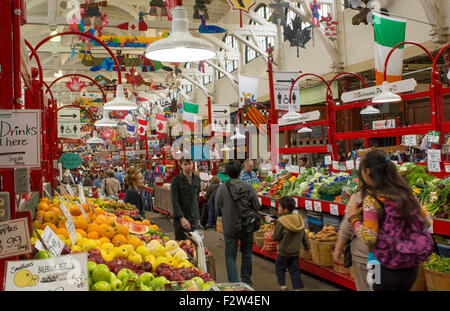 Canada Saint John New Brunswick famous City Market shops interior with food and items for sale - Stock Photo