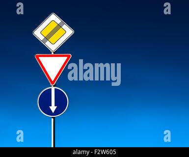 Conceptual road-sign - Stock Photo