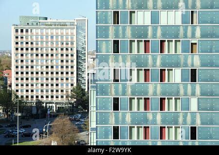 09.05.2015, Hamburg, Hamburg, Germany - Skyscrapers in Hamburg's St. Georg. 0HD150509D031CAROEX.JPG - NOT for SALE - Stock Photo