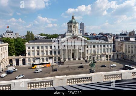 The historic church of Saint Jacques-sur-Coudenberg, Place Royale, Brussels, Belgium - Stock Photo