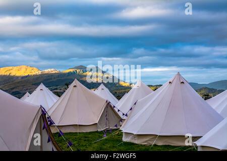 Festival No.6 Music Festival in Portmeirion Village, Gwynedd, Wales, UK - Stock Photo