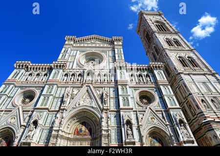 Florence Cathedral (The Duomo) situated in Piazza del Duomo, Florence, Tuscany, Italy. - Stock Photo